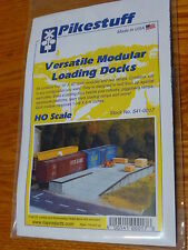 Pikestuff #541-0017 Loading Docks & Ramp -- Kit - 10 x 40 Scale Feet (HO Scale)