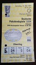 Orig.Ticket DFB Pokal Finale 93/94 Werder Bremen - Rot Weiß Essen Eintrittskarte