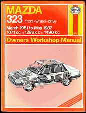 MAZDA 323 - 1071 1296 1490cc  March '81 to May '87 HAYNES Owners Workshop Manual