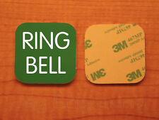 Engraved 3x3 RING BELL Plastic Tag Sign Plate   Green Doorbell Plate Plaque