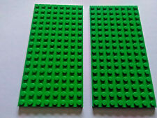 2 LEGO  8 x16 pin GREEN BASE PLATES 92438