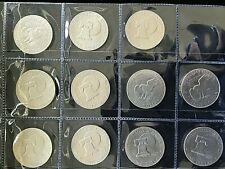 """USA / AMERICIA 1972 AND 1976 EISENHOWER """"IKE"""" ONE DOLLARS X 11 COIN"""