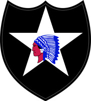 "2nd Infantry Division Patch 3.8"" Sticker / Decal"