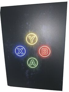 A B X Y Xbox Controller Button Displate Metal Wall Poster | W/ Wall Mounting Kit