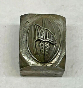 RARE Antique YALE FOOTBALL CT Jewelry Mold Hub Hob Steel Silversmith