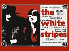 "The White Stripes Greensberg 16"" x 12"" Photo Repro Concert Poster"