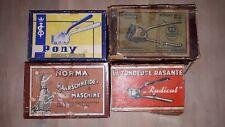 Lot de 5 anciennes tondeuses rasantes