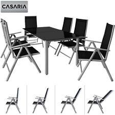 Sitzgruppe Gartenmöbel Alu Sitzgarnitur Essgruppe Aluminium Garten Tisch Set 6+1