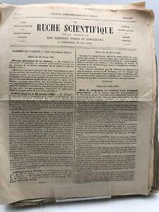 La ruche Scientifique, Revue mensuelle des sciences pures et appliqués- 1&2 anné