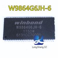 1PCS W9864G6JH-6 1Mx4BANKS x16 BITS SDRAM TSSOP54 new