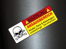 1 x Aufkleber Ansaugbereich Tuning Autoaufkleber Fun Gag Sticker Warnung CCM V6