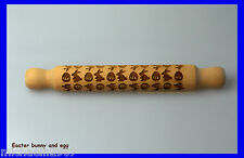 EasterBunny Rolling Pin, Laser Engraved