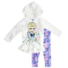 Disney Frozen Baby Girls Peplum Hoodie & Leggings Set - Sz 12 mos