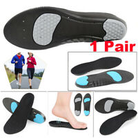 1 Pair Soft Foam Orthotic Insoles Shock Absorption Breathable Running Shoe Pad~