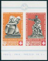 SCHWEIZ 1940, MiNr. 370-371, aus Block 5, tadellos postfrisch, Mi. 260,-