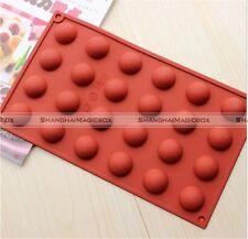 24 Cavity Round Half Ball Cake Mold Flexible Silicone Soap Mold Chocolate S2