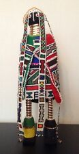 "RARE AFRICAN NDEBELE TRIBE SEED BEADED DOLL 20"" BRIDE CEREMONY WEDDING"
