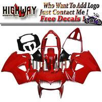 ABS Fairing Kit Bodywork Compression Pure Fairings For Honda VFR800 98-01 RED