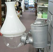 OLD VINTAGE KEROSENE ANGLE LAMP WITH WHITE GLOBE LOT 1