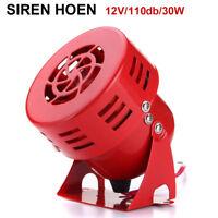 110dB 12V Car Truck Alarm Police Fire Loud Speaker PA Siren Horn 30W Waterproof