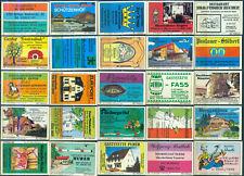 25 alte Gasthaus-Streichholzetiketten aus Deutschland #901