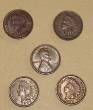 5 ONE HUNDRED YEAR OLD CENTS--FOUR INDIAN  [AU/BU] ONE 1909 VDB LINCOLN [AU/BU]