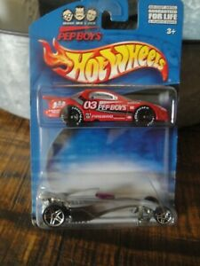 Hot Wheels Pep Boys 2000 2 car incl Red Pontiac Firebird 03 w/ lettered wheels