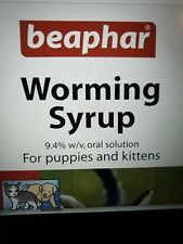 Beaphar Worming Syrup for kittens and Puppies- 45ml in easy to use PUMP bottle