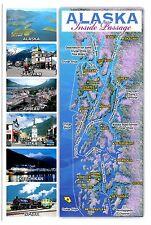 Alaska Inside Passage Postcard Skagway Juneau Sitka Ketchikan Cruise Ships