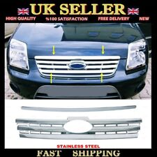 Chrome Front Grille 2 pcs S.STEEL Ford Transit Connect Tourneo 2009-2014