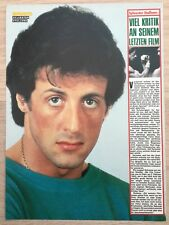 BRAVO POSTER Bericht Sylvester Stallone - Rocky - Rambo - 80er Jahre !!!