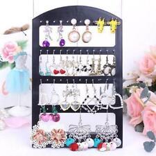 48 Holes Earrings Jewelry Show Black Plastic Display Rack Stand Holder Useful