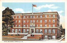 Farmville Virginia~Hotel Weyanoke~Lower Level Street Doors~2 Flights Steps~1920s