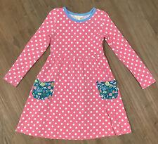 Matilda Jane Make Believe Collecting Leaves Lap Dress Size 6 Pink Polka Dot