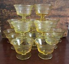 Federal Glass Patrician Amber Champagne Tall Sherbet Set of 16 Lot 7