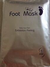Foot Mask x 1 pair BabyFeet | skin exfoliate works! | top seller | free postage!