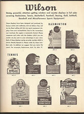 VINTAGE WILSON 4 PAGE ADVERTISING BROCHURE - ALL SPORTS
