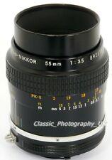 NIKON Micro-NIKKOR 55mm F3.5 1:2 Close-Up Nikon Ai analogue & DIGITAL fit Lens
