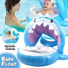 Baby Inflatable Swim Water Float Ring Sunshade Swimming Pool Kids Fun Toys