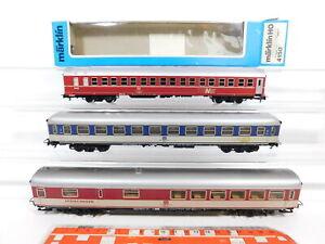 CF878-1# 3x Märklin H0/AC Personenwagen etc DB: 4150+Büm 234+Wrümh 132, Mängel