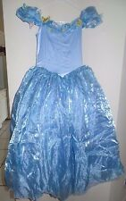 girls FANCY DISNEY CINDERELLA DRESS COSTUME size 8-10 BUTTERFLIES HALLOWEEN WOW!