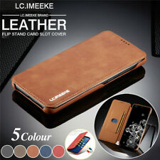 For Samsung Galaxy Note 10 9 8 S10 Magnetic Matte Leather Wallet Case Flip Cover
