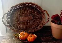 Serving Tray Gathering Basket With Handles Rustic Country Farmhouse Decor