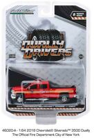 Greenlight Dually Drivers 2, 2018 Chevrolet Silverado 3500HD FDNY 1/64 46020A