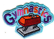 """GYMNASTICS- Iron On Embroidered Applique Patch- Sports, Competition, Gym"