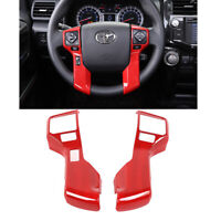 Red ABS Car Steering Wheel Botton Cover Trim for Toyota 4Runner 2014-2019