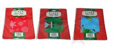 "3 Piece Christmas Bicycle Bike Jumbo Gift Bags Wrap W/Gift Tag 60"" x 72"" NEW"