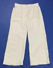 Armani jeans pantalone lino estivi w28 tg 42 usati loose gamba larga comod T1854