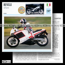 #039.11 BENELLI 125 JARNO 1987 Fiche Moto Sport Bike Motorcycle Card