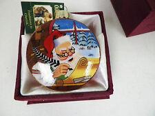 """OLD WORLD CHRISTMAS SANTA WRITING CHRISTMAS ORNAMENT NIB 3"""""""